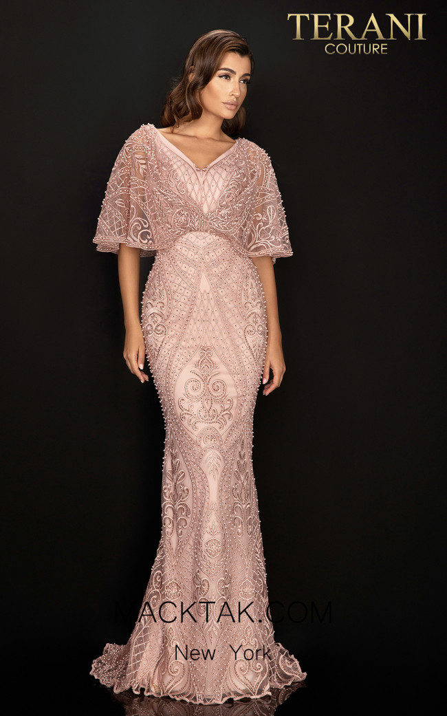 Terani 2011M2466 Rose Front Dress