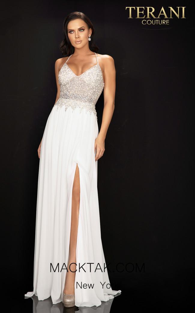Terani 2011P1051 Ivory Front Dress
