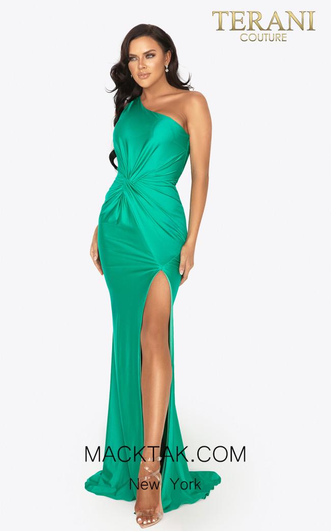 Terani 2011P1066 Emerald Front Dress