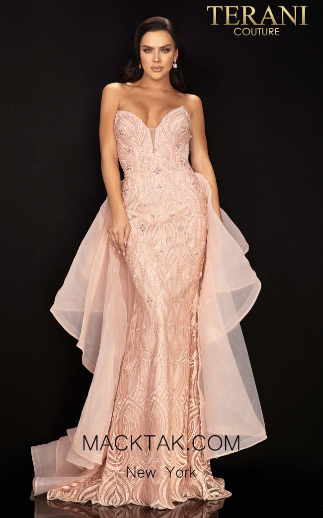 Terani 2011P1068 Blush Front Dress