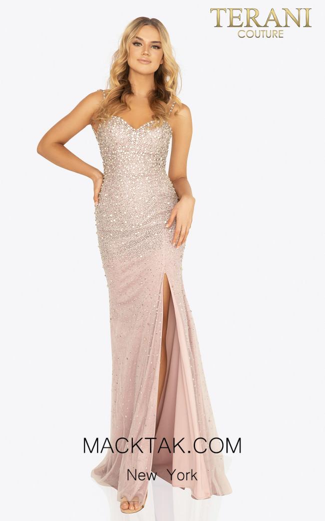 Terani 2011P1069 Rose Front Dress