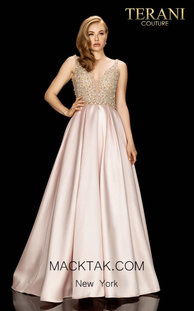 Terani 2011P1094 Blush Front Dress