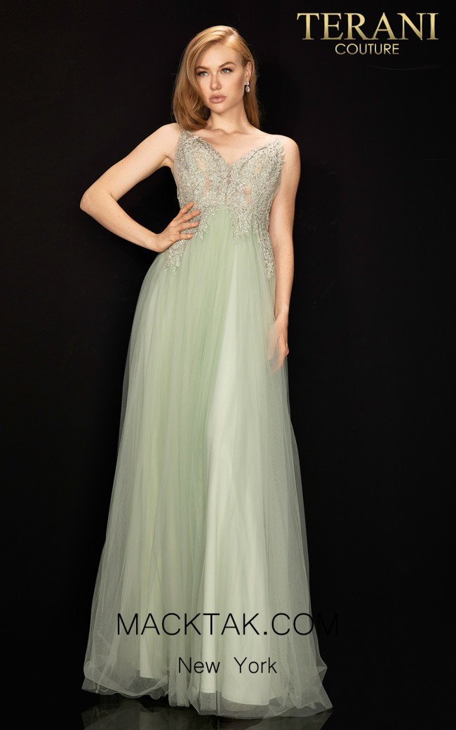 Terani 2011P1107 Mint Front Dress