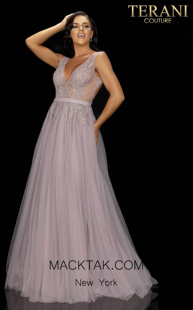 Terani 2011P1109 Mink Front Dress