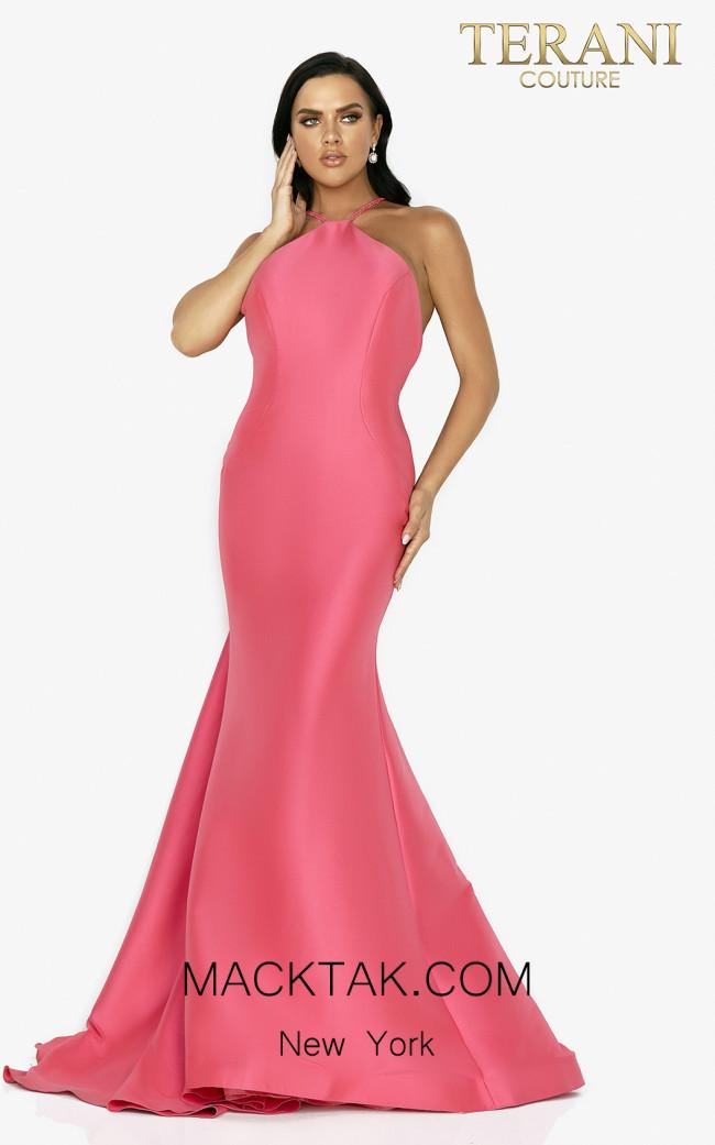 Terani 2011P1111 Watermelon Front Dress