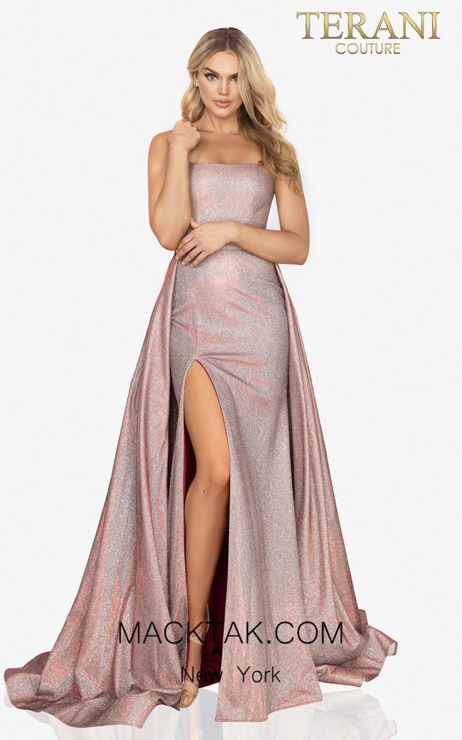 Terani 2011P1164 Mink Front Dress