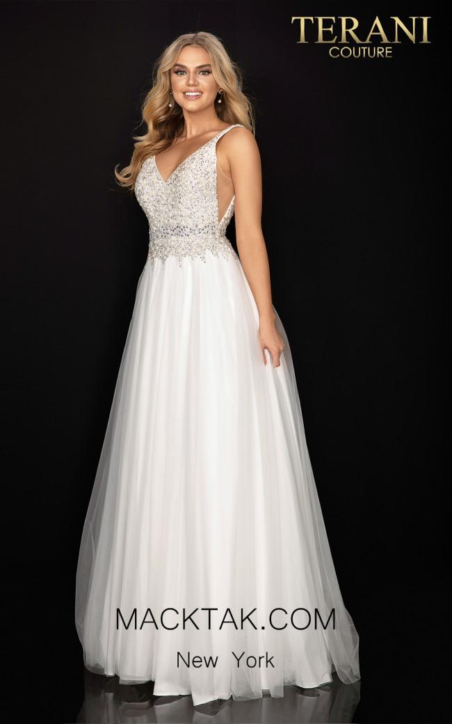 Terani 2011P1178 Ivory Front Dress