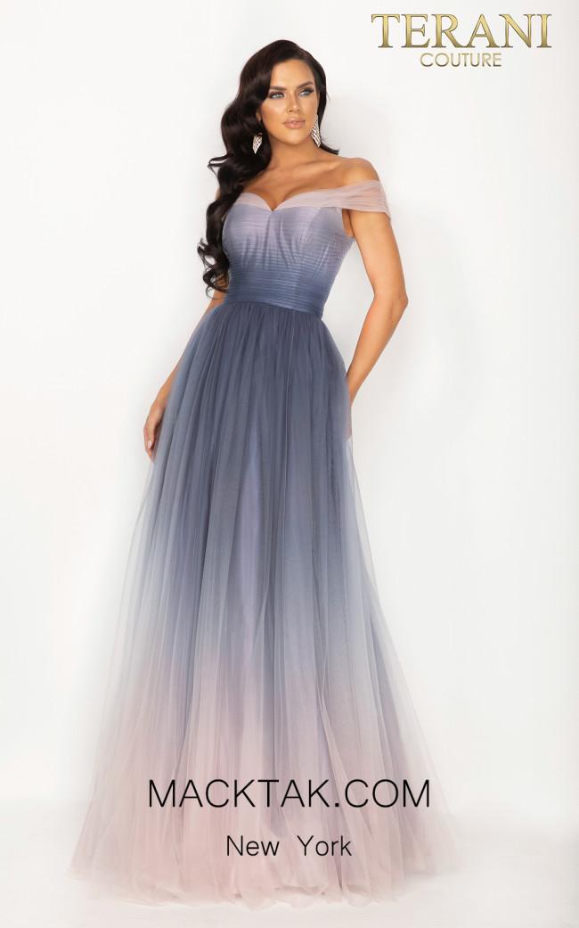 Terani 2011P1208 Blush Mauve Front Dress