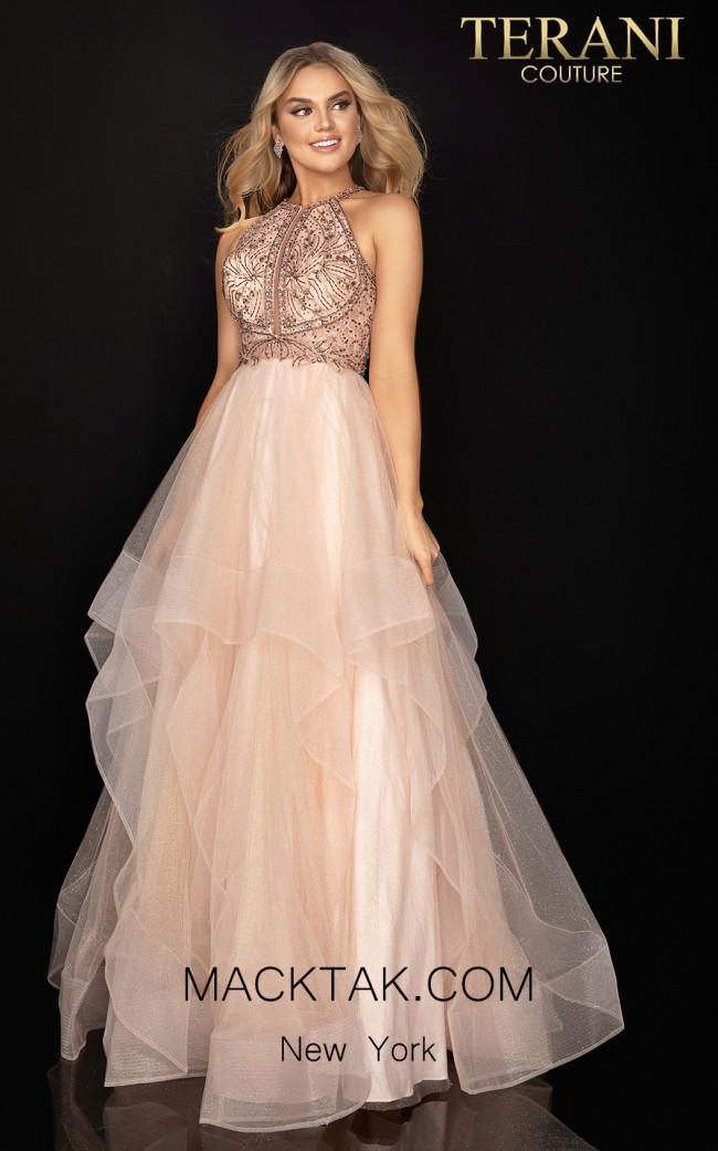 Terani 2011P1217 Blush Front Dress