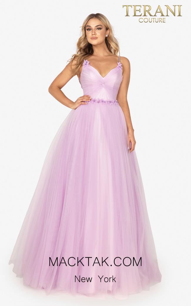 Terani 2011P1232 Lilac Front Dress