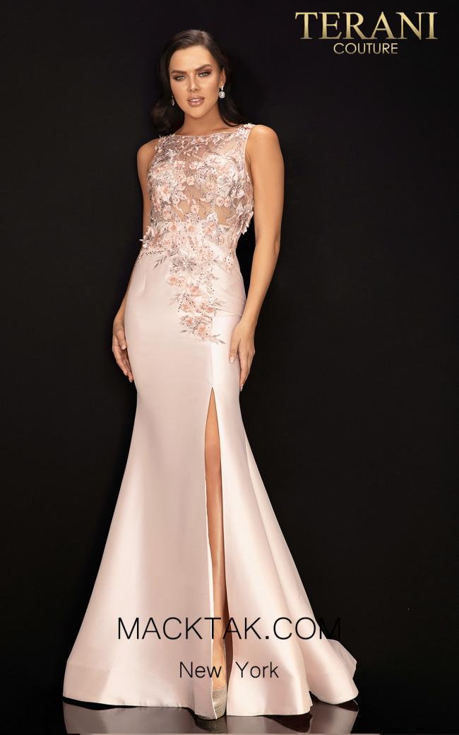 Terani 2011P1467 Blush Front Dress