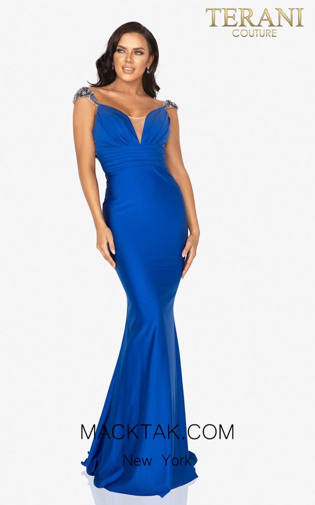 Terani 2011P1469 Saphire Front Dress