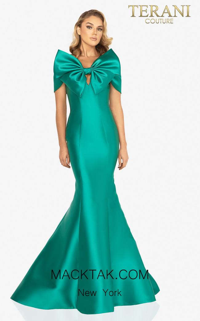 Terani Couture 2012E2279 Emerald Front Dress