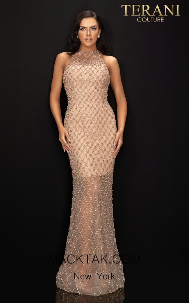 Terani 2012GL2375 Nude Front Dress