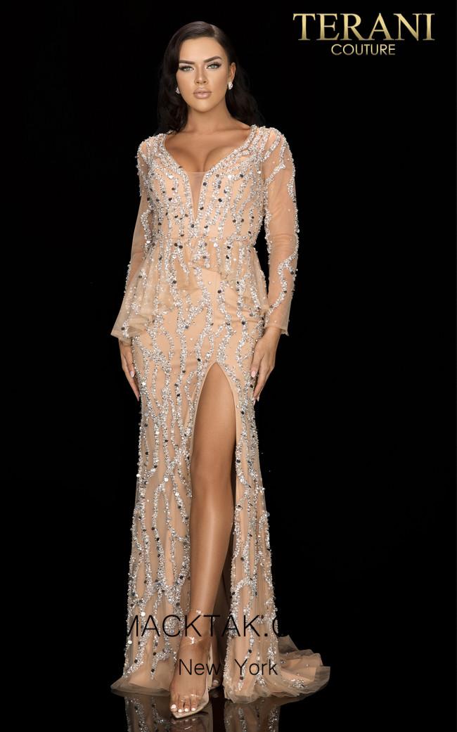 Terani 2012GL2392 Nude Front Dress