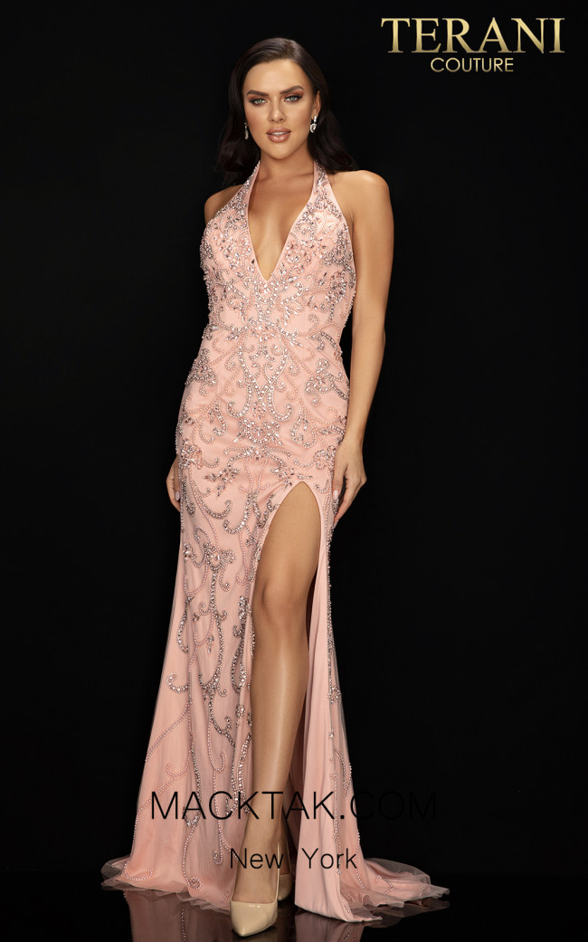 Terani 2012P1463 Blush Front Dress
