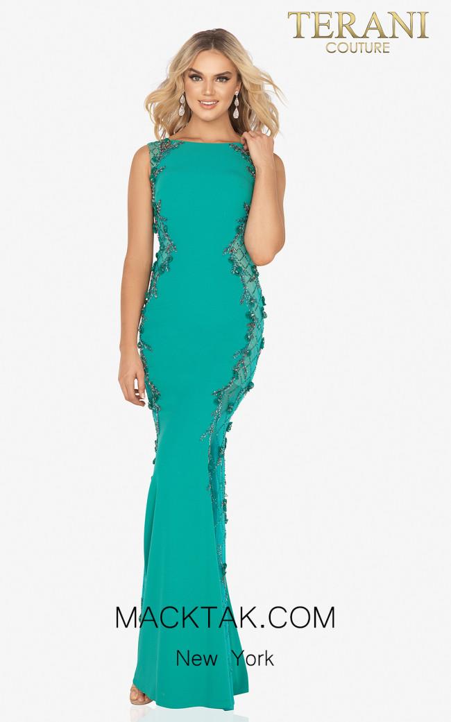 Terani 2017E2304 Emerald Front Dress
