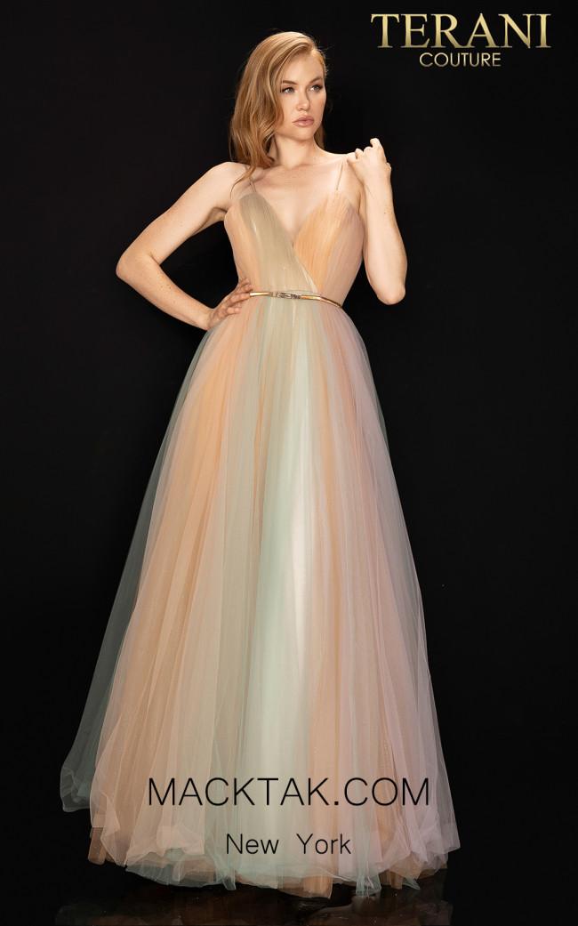Terani 2017P1310 Multi Front Dress