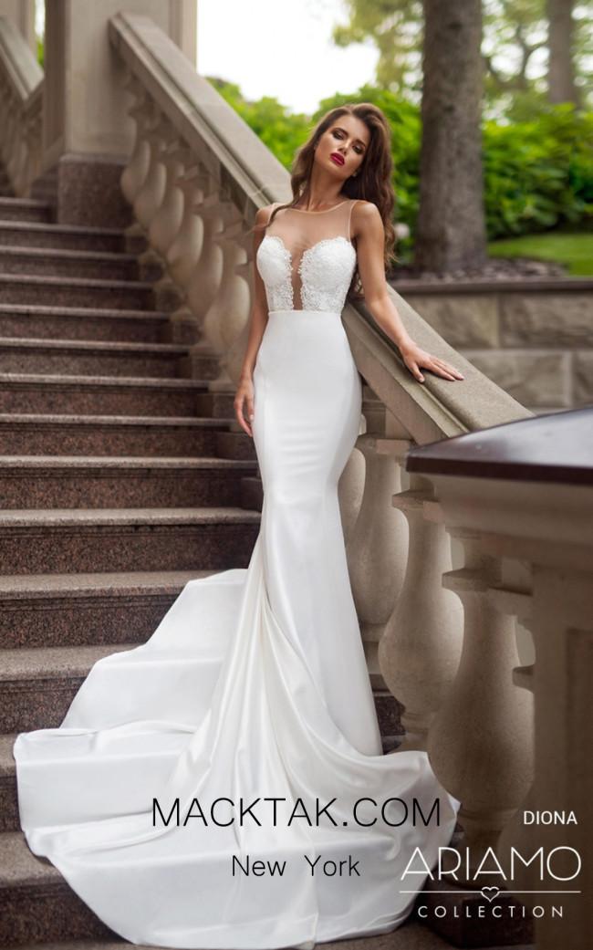 Tesoro By Ariamo Diona Ivory Ivory Ivory Front Dress