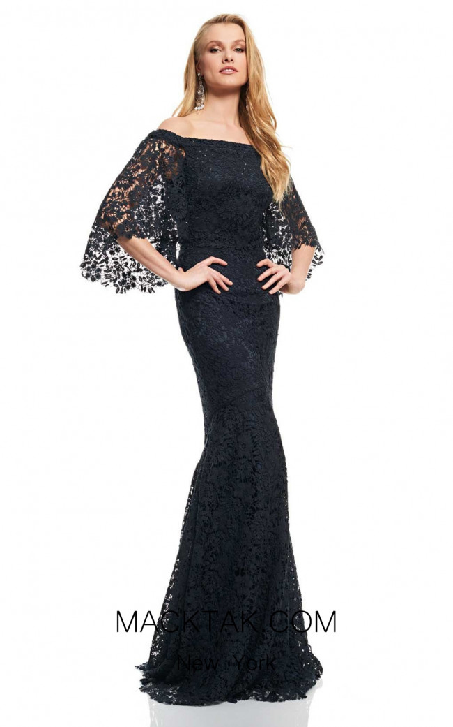 Theia Couture 883273 Midnight Front Dress