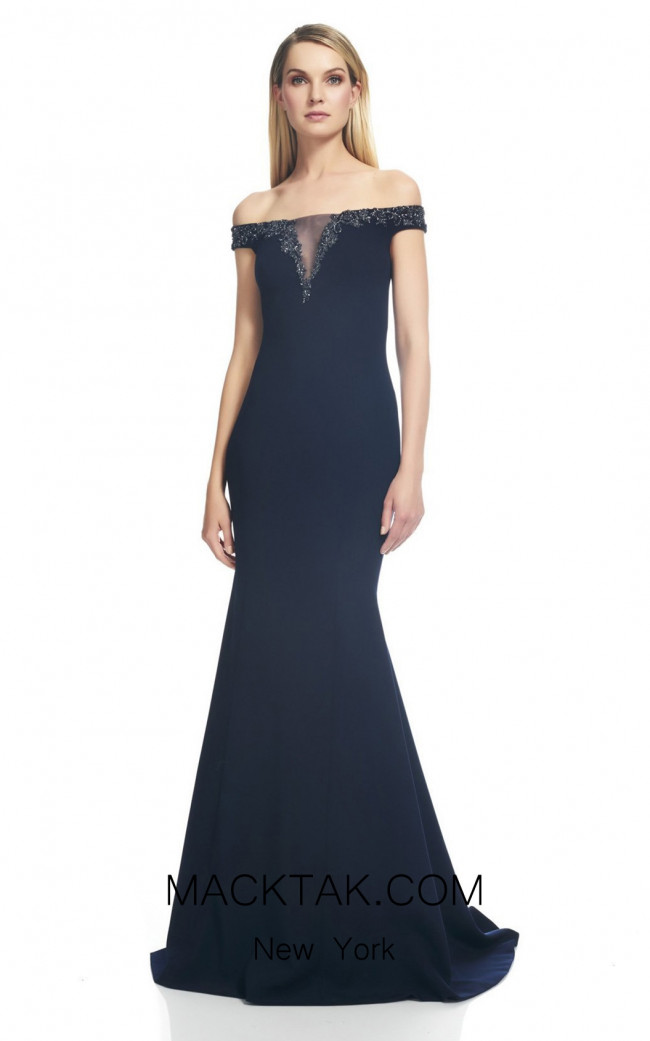 Theia Couture 883498 Midnight Front Dress