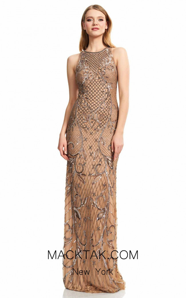 Theia Couture 883693 Bronz Front Dress
