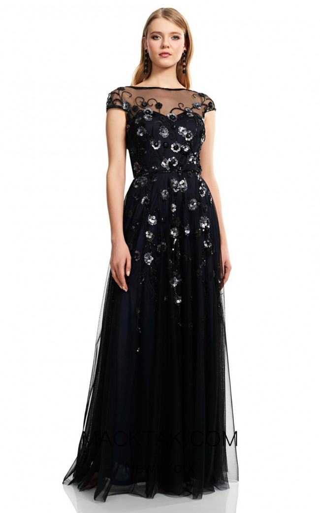 Theia Couture 883745 Navy Front Dress