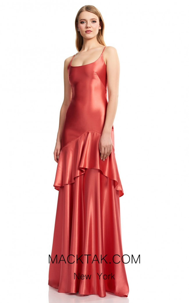 Theia Couture 883677 Salmon Front Dress