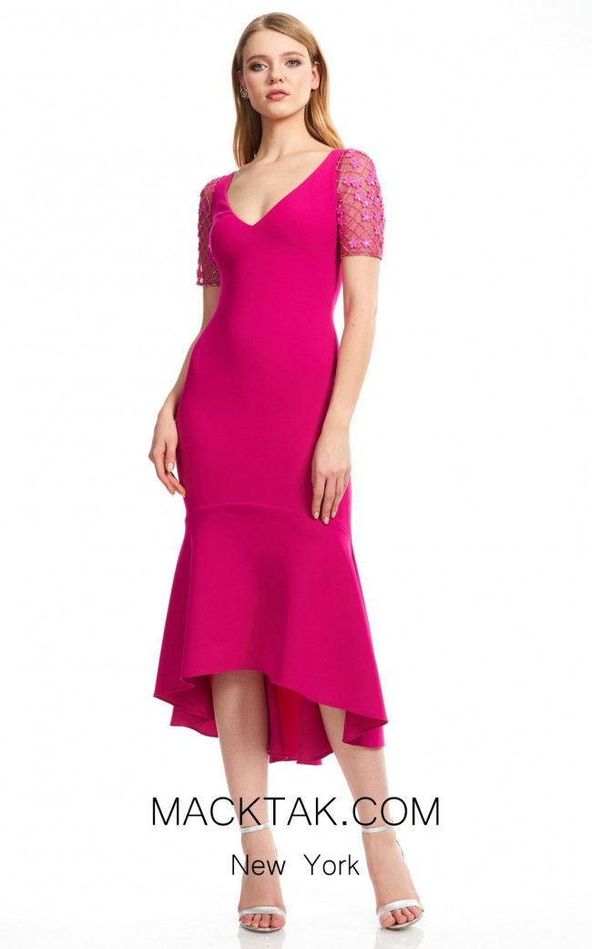 Theia Couture 883727 Fuchsia Front Dress