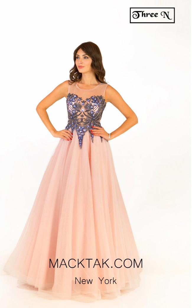 Three N 1801 Light Pink Front Dress