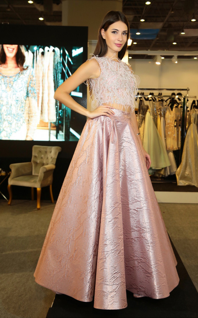 Three N 2063 Pink Front Dress