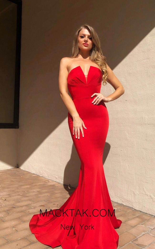 Tina Holly BA651 Red Front Dress