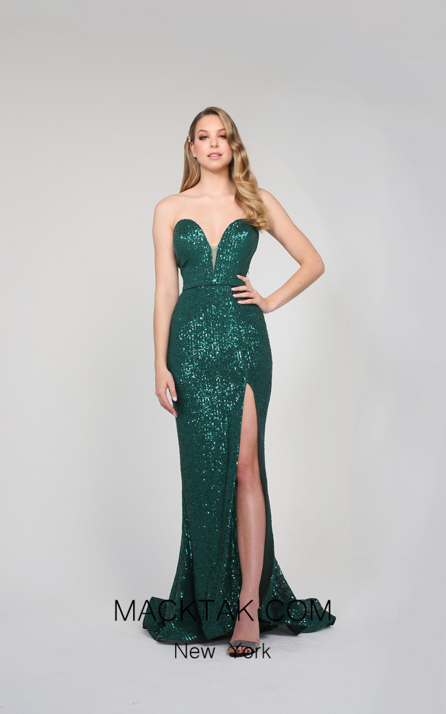 Tina Holly TA823 Emerald Green Front Dress