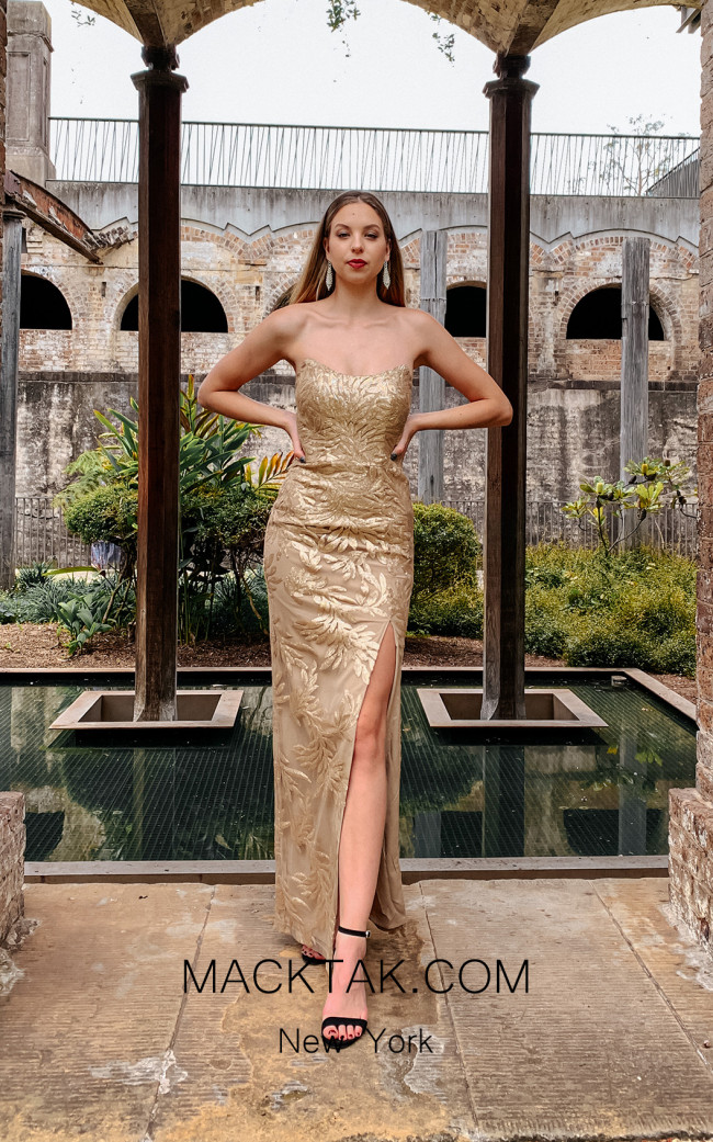 Tina Holly TW003 Gold Front Dress