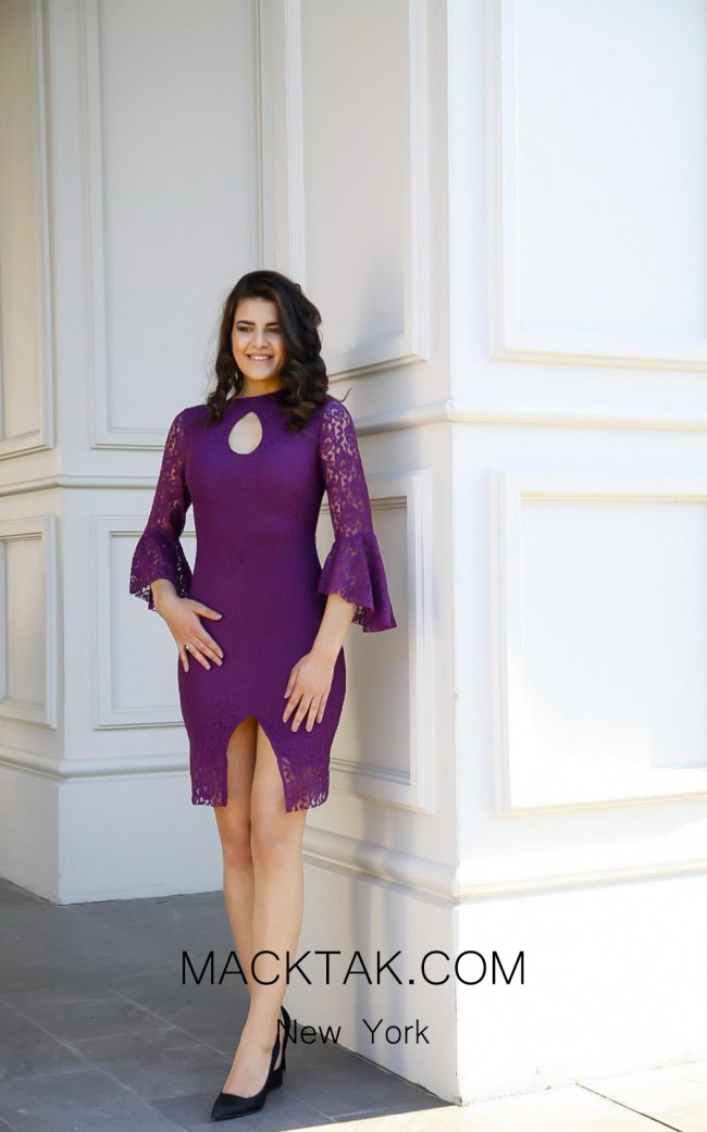 TK AS119 Purple Evening Dress