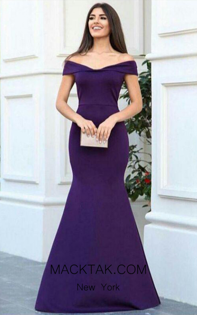 TK AS120 Purple Evening Dress