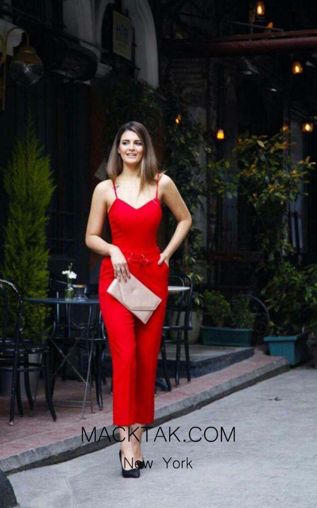 TK AS123 Red Evening Dress