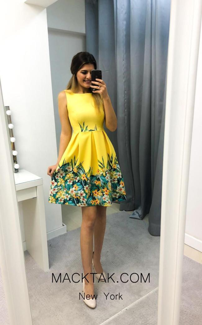 TK AS136 Yellow Evening Dress