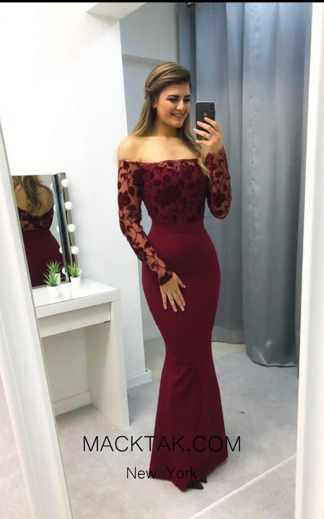 TK AS138 Wine Evening Dress