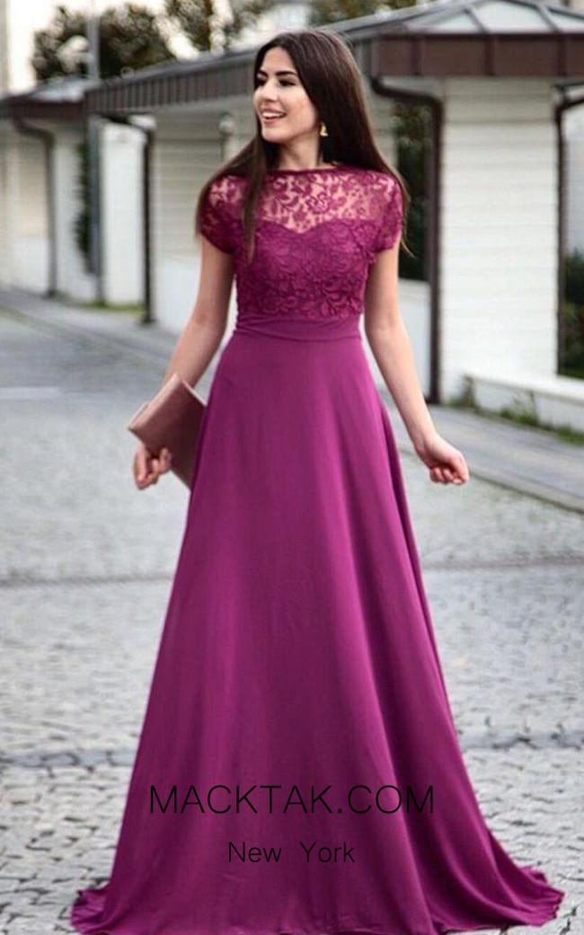 TK AS140 Purple Evening Dress