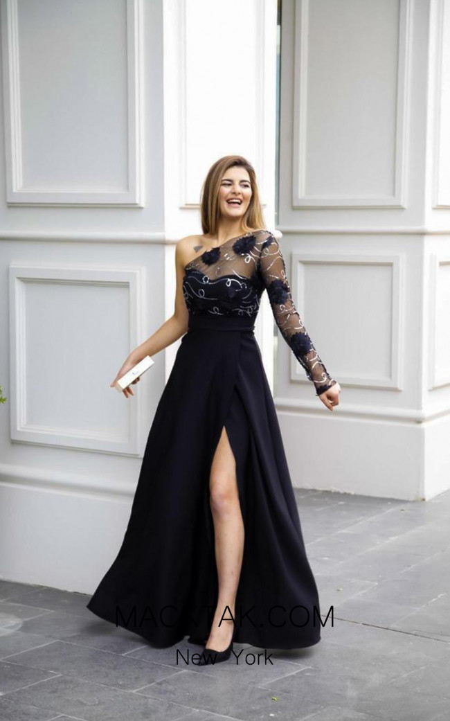 TK AS147 Black Evening Dress