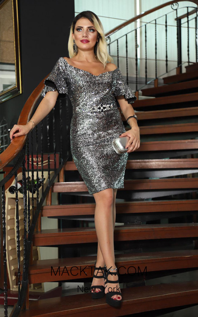 TK DA022 Gray Front Dress