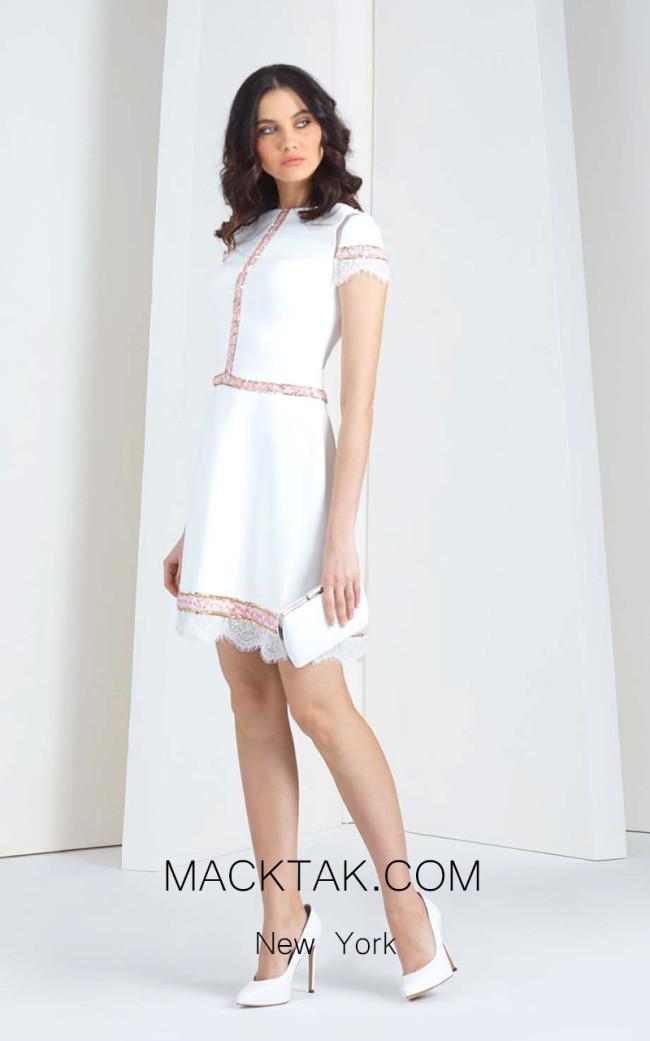 Tony Ward 08 White Front Evening Dress