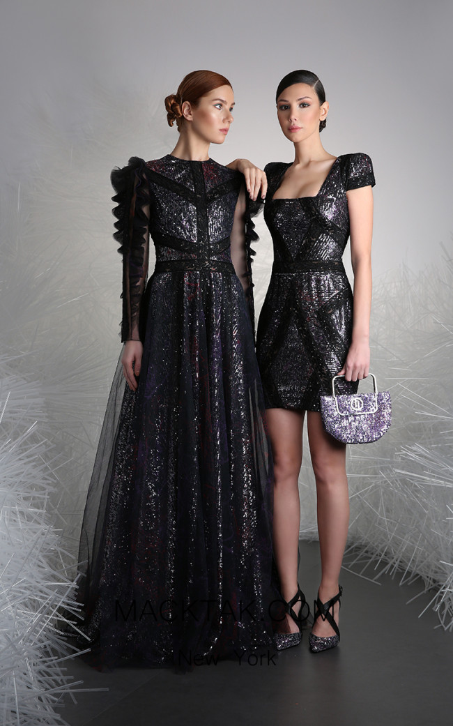 Tony Ward 15A Black Front Evening Dress
