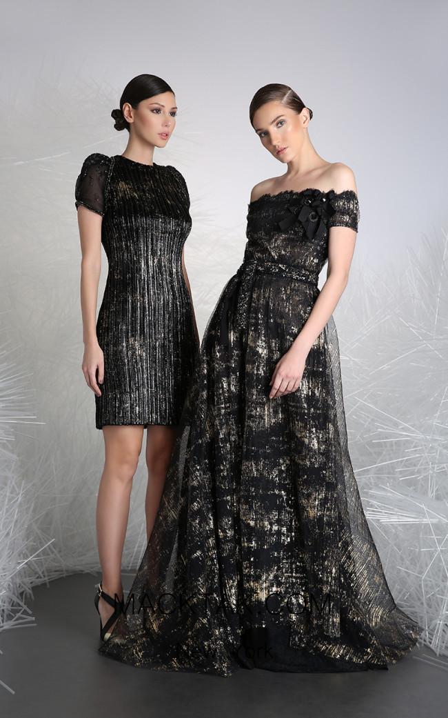 Tony Ward 24B Black Front Evening Dress