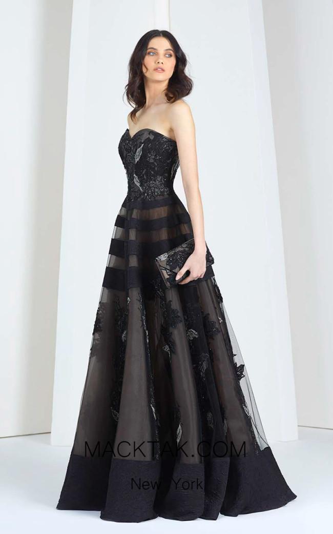 Tony Ward 26 Black Front Evening Dress