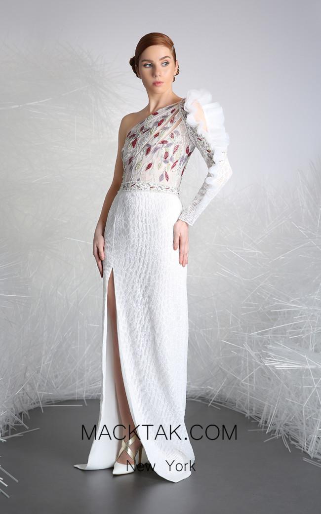 Tony Ward 39 White Front Evening Dress