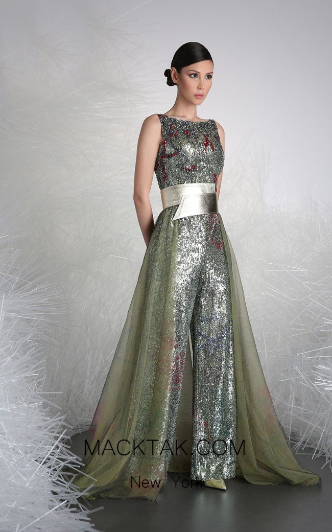 Tony Ward 41 Silver Front Evening Dress