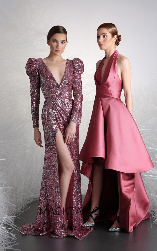 Tony Ward 47B Pink Front Evening Dress