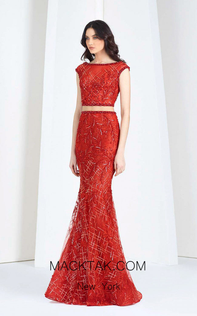 Tony Ward FW49 Red Front Evening Dress